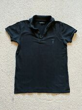 All saints Fight Club Polo Shirt Size Small Black