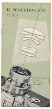 "Leitz splendido manuale illustrativo ""Il procedimento Leica""  1955 E514 BIS"