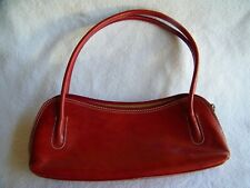 Barberini's of Italy Rust Color Leather Short Shoulder Purse Excellent Condition