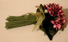 Vintage Velvet Violets Bunch Flowers Corsage or Millinery Hats Pinks/Purple