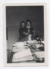 PHOTO ANCIENNE  Employée de bureau Secrétaire Travail Métier Snapshot Vers 1940