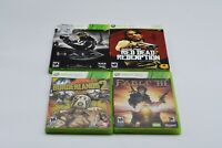 Lot of 4 Microsoft Xbox 360 Games HALO,FABLE3,REDDEAD,BORDERLANDS2 FREE SHIP