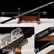 """42""""inch High Quality Chinese Sword""""Han Jian""""(劍)Carbon Steel Blade Two Blood Slot"""