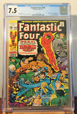 FANTASTIC FOUR #100 - CGC 7.5 - JULY 1970 - 100TH ANNIVERSARY ISSUE - BRONZE AGE
