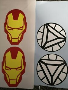 Iron man 2 x each image in picture craft wall window ect