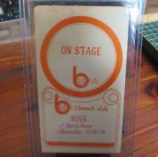 KISS 1976 Unused Backstage Pass; 12/10/76 Vets Coliseum Jacksonville, FL