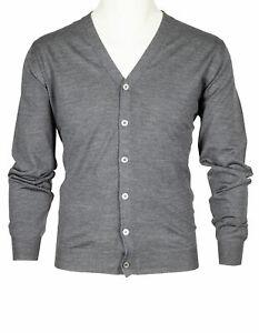 "Fedeli Cardigan IN Grey From "" Lana Superfine 140'S "" Wool RegEUR360"