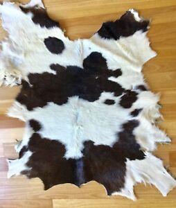 Calf cow Skin Rug Soft Fur hide Natural baby dog blanket wheelchair picnicking