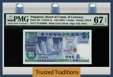 TT PK 18a ND (1987) SINGAPORE BOARD OF COMM. OF CURRENCY 1 DOLLAR PMG 67 EPQ!