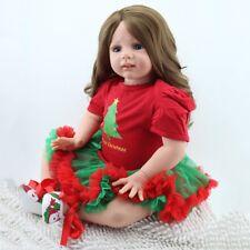 "24""Handmade Reborn Newborn Dolls Toddler Kids Xmas Gift Vinyl Silicone Baby HYM"