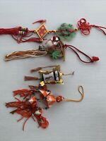 Vintage Christmas Tree Ornaments Asian Lot 4