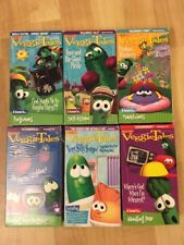 Veggie Tales VHS Lot of 6 Tapes Dave & the Giant Pickle Madam Blueberry TESTED