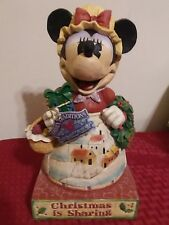 Jim Shore Disney Minnie Mouse Heartwarming Holiday Christmas is Sharing #4004042