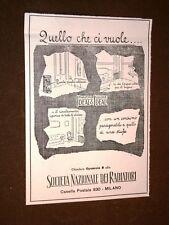 Pubblicità dei primi del 1900 Società nazionale dei radiatori Milano