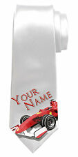 FORMULA ONE F1 RACING CAR PERSONALISED MEN'S NECK TIE *ANY NAME/TEXT* GREAT GIFT