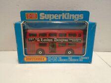Matchbox Superkings K-15 The Londoner Bus London Dungeon nMINT wBox Vintage 1979