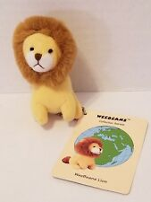 Brown Lion Bean Bag Key Chain Princess Soft Toy WEEBEANS Collector FOB