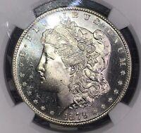 1879-S MORGAN PROOF LIKE SILVER DOLLAR BEAUTIFUL NGC CAC MS 65 PL FREE SHIPPING