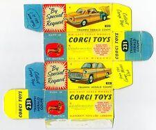 Boîte copie repro Corgi Toys 231 triumph herald coupé ( reproduction box vide )