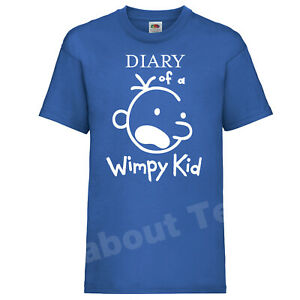 The Diary of a Wimpy Kid T-SHIRT Books JEFF Movie Kinney Inspired World book day
