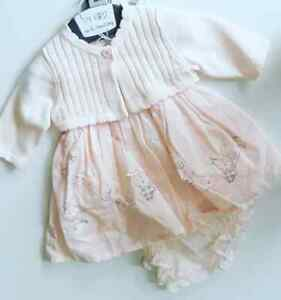 Pink Baby Girl's Dress - Baby - Twins - Triplets - Going Home Outfit - BNWT Prem