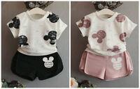 Baby girls clothes cotton summer Top T shirt & short pants kids outfits cartoon