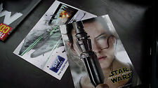 Star Wars - The Force Awakens.  2x postcards (Rey + Millenium Falcoln)