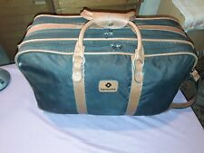 Hochwertige Samsonite Reisetasche mit Echt Leder Beschlägen und Schultergurt