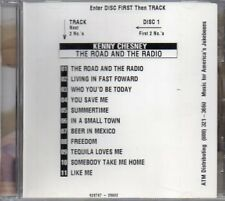 Jukebox CD Kenny Chesney The Road and The Radio Stock CD with Jukebox Insert