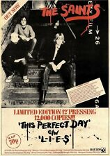 2/7/77PN31 ADVERT: THE SAINTS SINGLE THIS PERFECT DAY C/W L-I-E-S 15X11