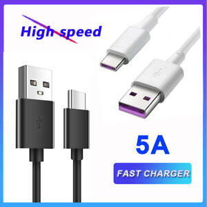 5A Type C USB for Huawei P30 Mate 20 Pro Sync Charger Fast Charging Cable Lead