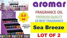 2 Aromar Aromatherapy Essential Fragrance 100% Concentrate Oil 2.2 SEA BREEZE 2X