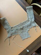 Victorian Crocheted Needle Lace Yoke Trim Edwardian 1900s Camisole