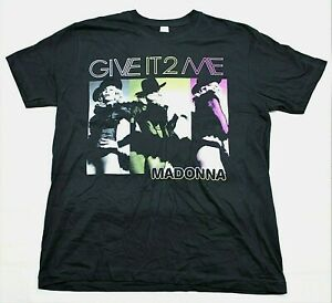 Madonna Give It To Me/Gave It To Vancouver 2008 Tour Shirt Black Double Sided Lg