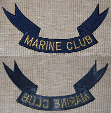 Patch Aufbügler als Band MARINE CLUB / Größe ca. 14,5x7 cm / Maritim