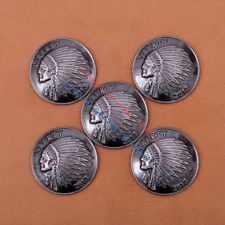 10pc 37mm Antique Nickle Tribal Indian Head Liberty Conchos For Bag Leathercraft