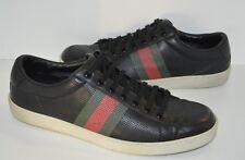 b9528d1cca7 AUTHENTIC GUCCI BROOKLYN Designer Sneakers Shoes BLACK Mens sz 11