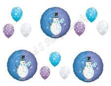 WINTER WONDERLAND SNOWMAN Birthday Balloons Decoration Supplies Party 1st First