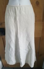 PRET A PORTER Cream linen maxi skirt. Size EUR 36 UK 8.