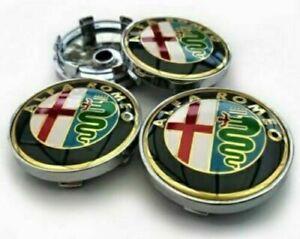 4pcs 60 mm ALFA ROMEO Logo Emblem Alloy Wheel Center Caps Hub Caps Rim Caps