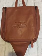 Canyon Outback Hanging Leather Toiletry Bag, brown CLEVELAND INDIANS BASEBALL