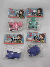 1986 BANDAI POPY JAPAN GE GE GE NO KITARO LOT OF 4 PVC FIGURES MINT IN PACKAGES