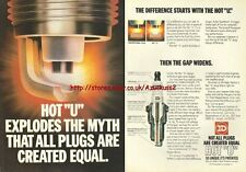 "ND Hot ""U"" Spark Plugs 1980 Magazine Advert #2363"