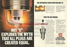 "ND Hot ""U"" Spark Plugs 1980 Magazine Advert #2363"