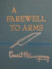 A FAREWELL TO ARMS by ERNEST HEMINGWAY 1957 Hard Cover Book WORLD WAR I
