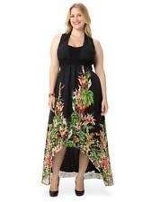 NWT Rare Authentic IGIGI Agnella Maxi Dress in Black Floral, 12