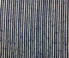 "BRUNSCHWIG & FILS PIQUE-NIQUE INDIGO INK BLUE STRIPE FABRIC BY THE YARD 54""W"