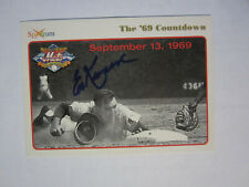 1994 Spectrum # 52 '69 Mets ED KRANEPOOL Autograph Signed Card New York Mets