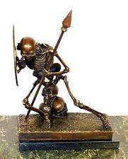 Erstklassige MODERN ART Künstler Bronze SKELETT KRIEGER