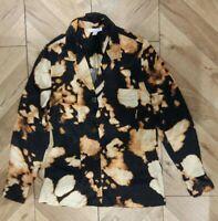 Topshop Womens Black Silky Blouse Shirt Top Size 8